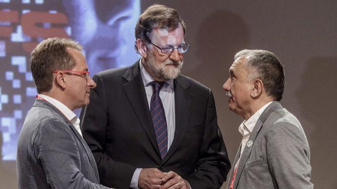 Mariano+Rajoy+parla+per+primera+vegada+en+un+acte+d%27UGT