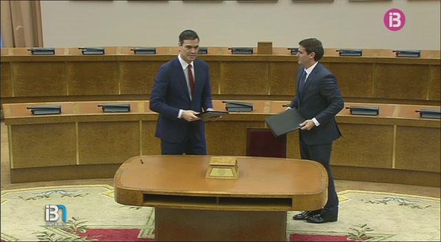 Pedro+S%C3%A1nchez+acusa+Podem+de+bloquejar+l%27acord+de+legislatura+amb+Ciutadans