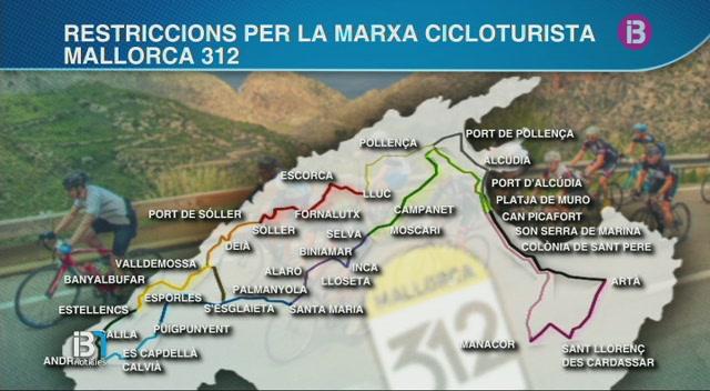 La+prova+ciclista+Mallorca+312+obligar%C3%A0+a+fer+talls+de+tr%C3%A0nsit+a+m%C3%A9s+de+50+carreteres+de+Mallorca