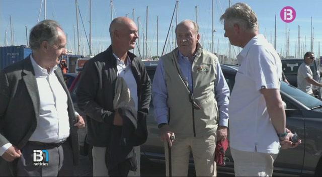 El+rei+Joan+Carles+ha+tornat+avui+a+Mallorca+per+participar+a+la+regata+Gaastra+Palma+Vela