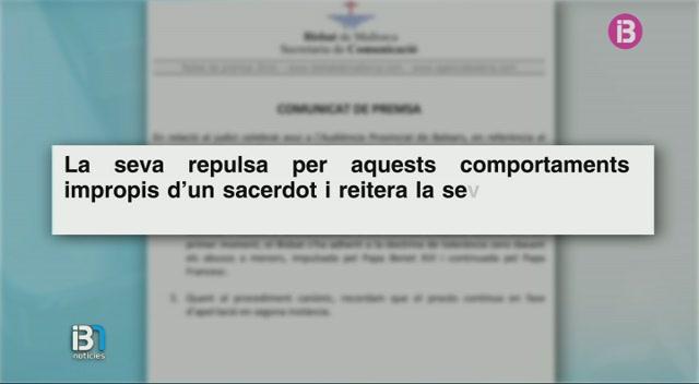 El+Bisbat+de+Mallorca+manifesta+la+seva+repulsa+cap+al+comportament+de+Pere+Barcel%C3%B3