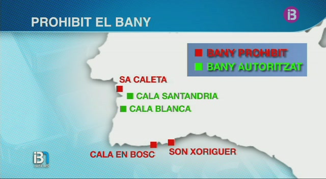 El+vessament+contaminant+provocat+per+l%27avaria+del+cable+el%C3%A8ctric+fa+tancar+tres+platges+a+Ciutadella