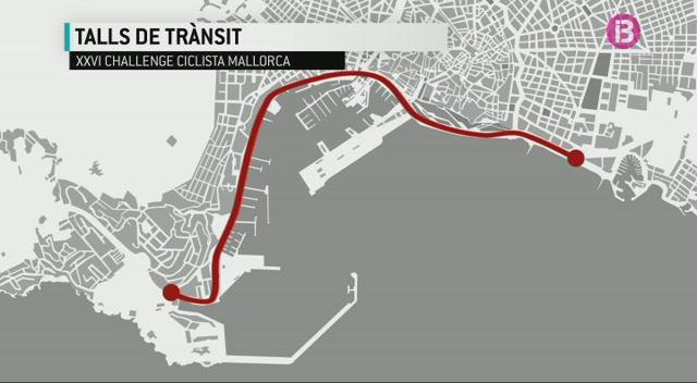 Talls+de+tr%C3%A0nsit+per+la+Challenge+Ciclista+Mallorca