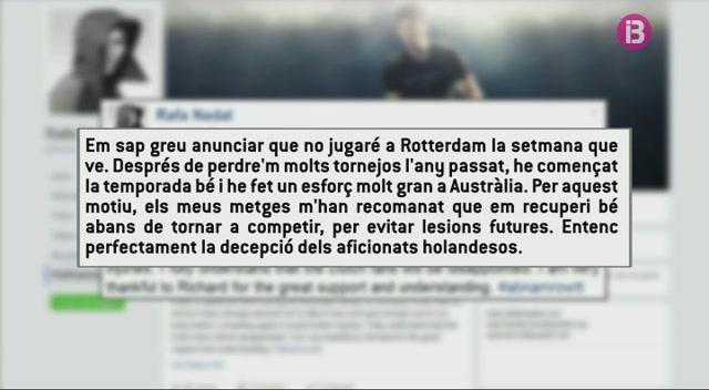 Rafel+Nadal+renuncia+a+jugar+el+torneig+de+Rotterdam+de+la+setmana+que+ve
