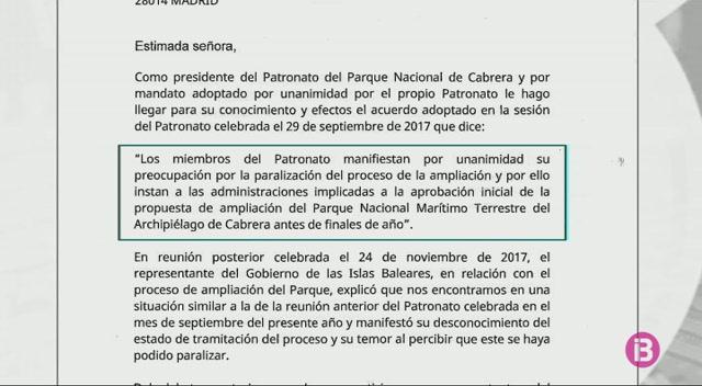 El+Patronat+de+Cabrera+espera+resposta+del+Ministeri+sobre+la+paralitzaci%C3%B3+de+la+proposta+d%27ampliar+el+parc