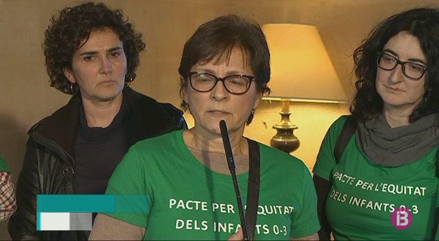 Francina+Armengol+es+compromet+a+impulsar+un+pacte+educatiu+de+0+a+3+anys