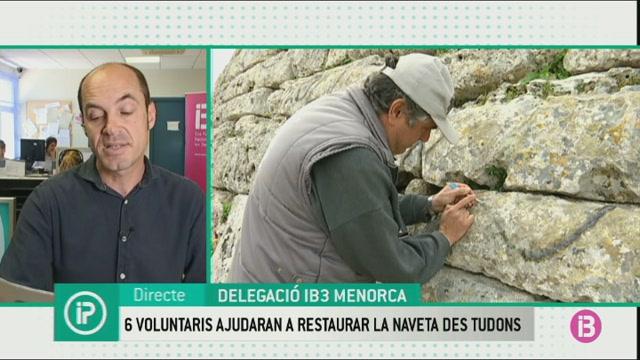 Sis+voluntaris+inicien+dissabte+la+restauraci%C3%B3+de+la+Naveta+des+Tudons
