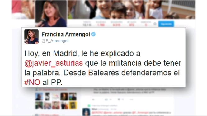 Armengol+recorda+a+Fern%C3%A1ndez+que+els+socialistes+balears+seguiran+defensant+el+no+a+Rajoy