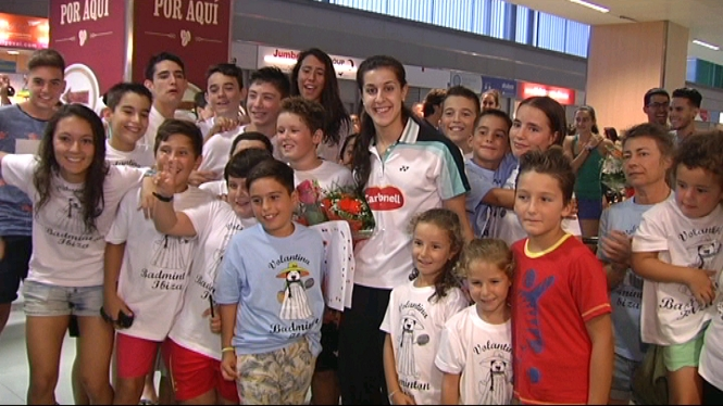 La+campiona+del+m%C3%B3n+de+b%C3%A0dminton+Carolina+Mar%C3%ADn+ja+%C3%A9s+a+Eivissa