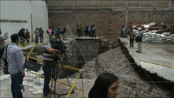 Trobades+les+restes+d%27un+temple+asteca+al+centre+de+Ciutat+de+M%C3%A8xic