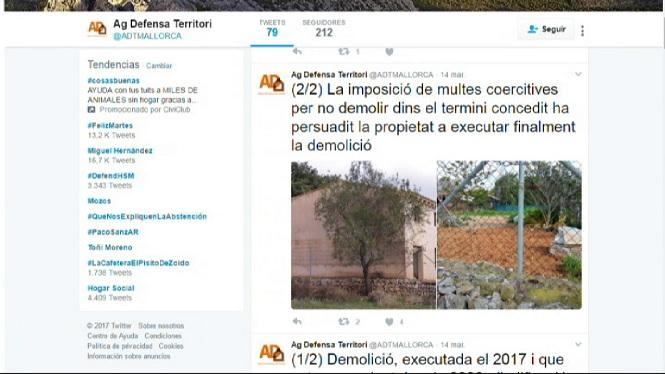 El+Consell+de+Mallorca+ha+imposat+13+multes+coercitives+a+propietaris+que+no+han+executat+les+demolicions+dins+el+termini