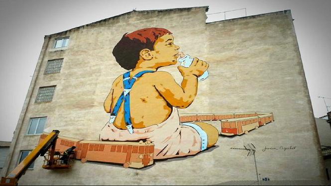 L%27artista+Joan+Aguil%C3%B3+finalitza+el+mural+m%C3%A9s+gran+de+Palma