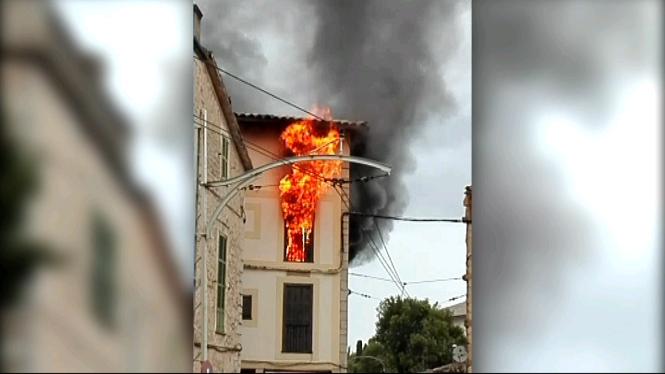 Incendi+intencionat+a+un+edifici+de+pisos+del+centre+de+S%C3%B3ller