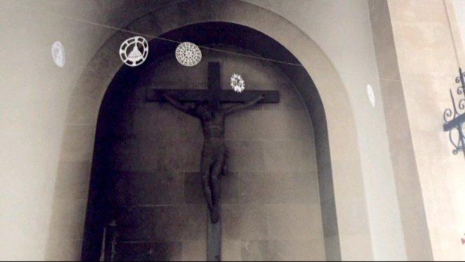Un+incendi+ha+afectat+greument+una+imatge+del+Sant+Crist+del+segle+XVII+del+convent+de+les+monges+de+clausura+de+Sineu