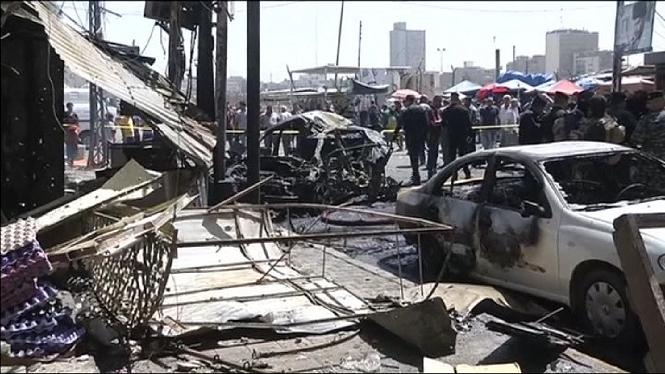Una+vintena+de+morts+i+m%C3%A9s+d%27un+centenar+de+ferits+en+dos+atemptats+a+Bagdad