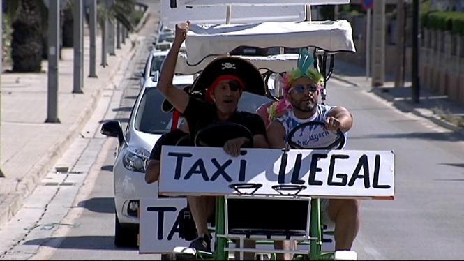 Manifestaci%C3%B3+dels+taxistes+de+Palma+contra+els+bicitaxis