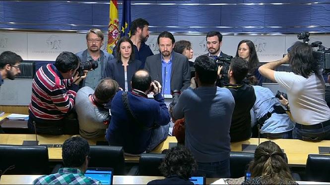 Podem promou una moció de censura contra Rajoy que rebutgen PSOE i Ciutadans