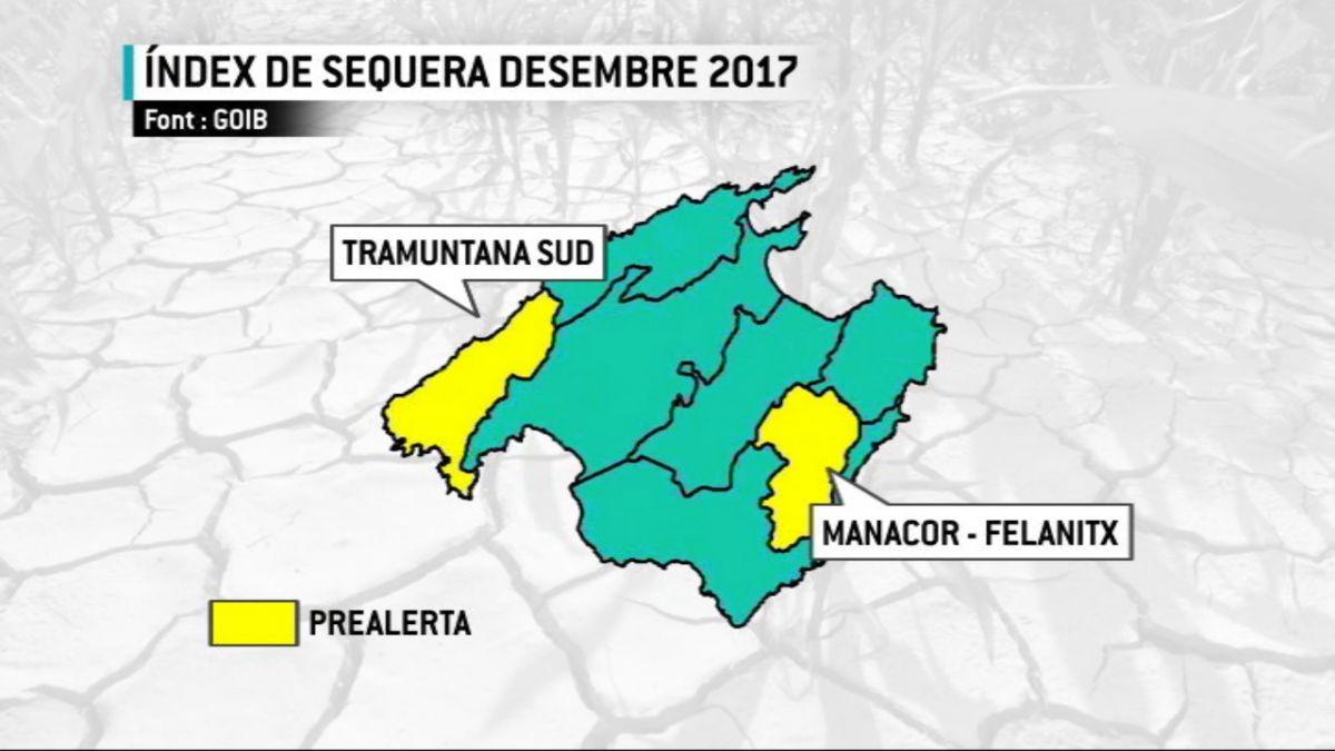 Dues+zones+de+Mallorca+continuen+en+prealerta+per+sequera