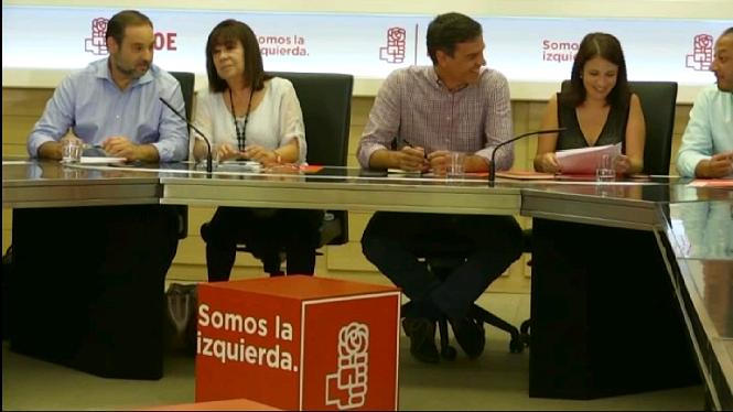 El+debat+entre+els+tres+candidats+a+les+prim%C3%A0ries+del+PSOE+ser%C3%A0+dilluns+15+de+maig