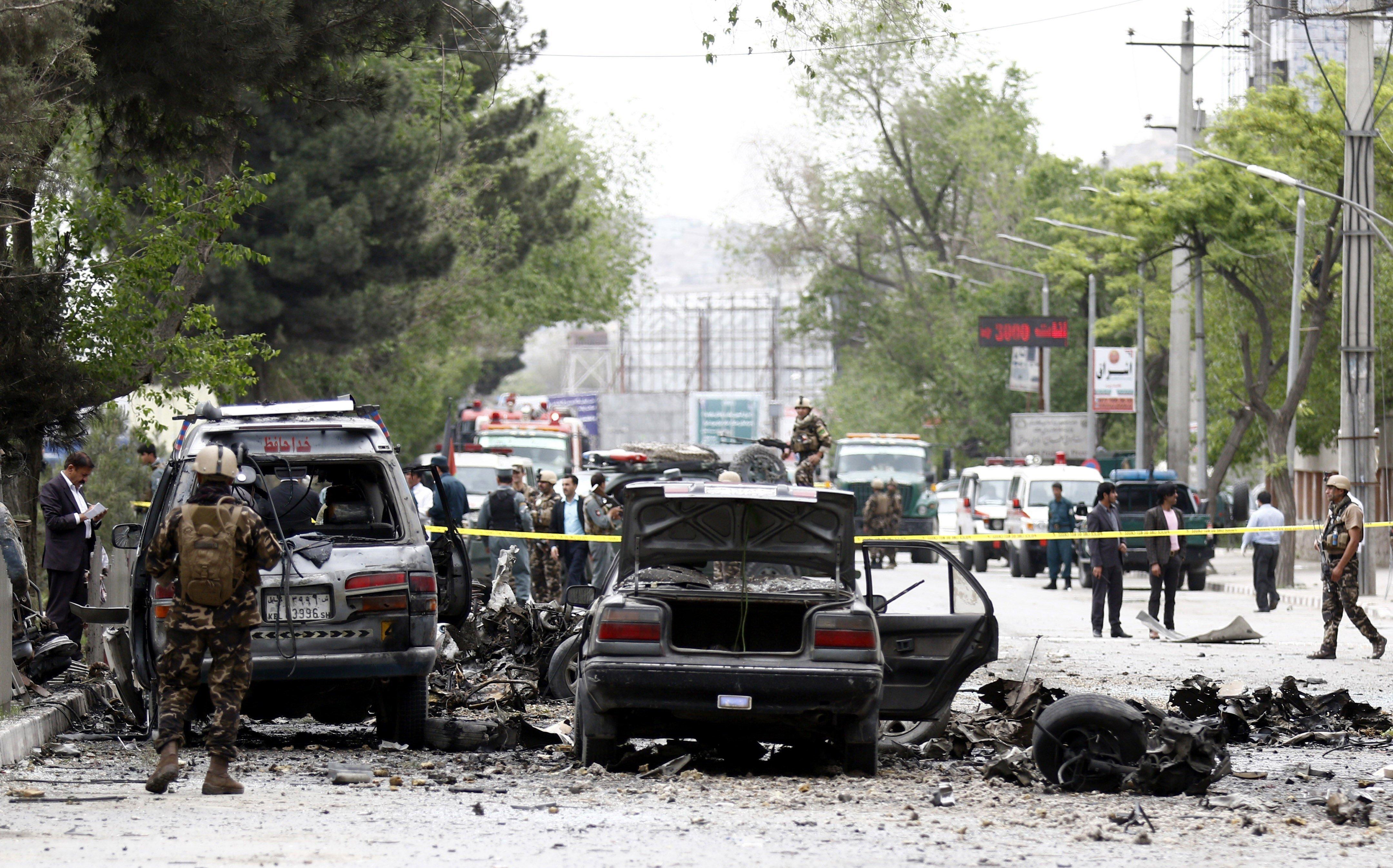 Almenys nou morts i 26 ferits en un atemptat suïcida a Afganistan. /JAWED KARGAR