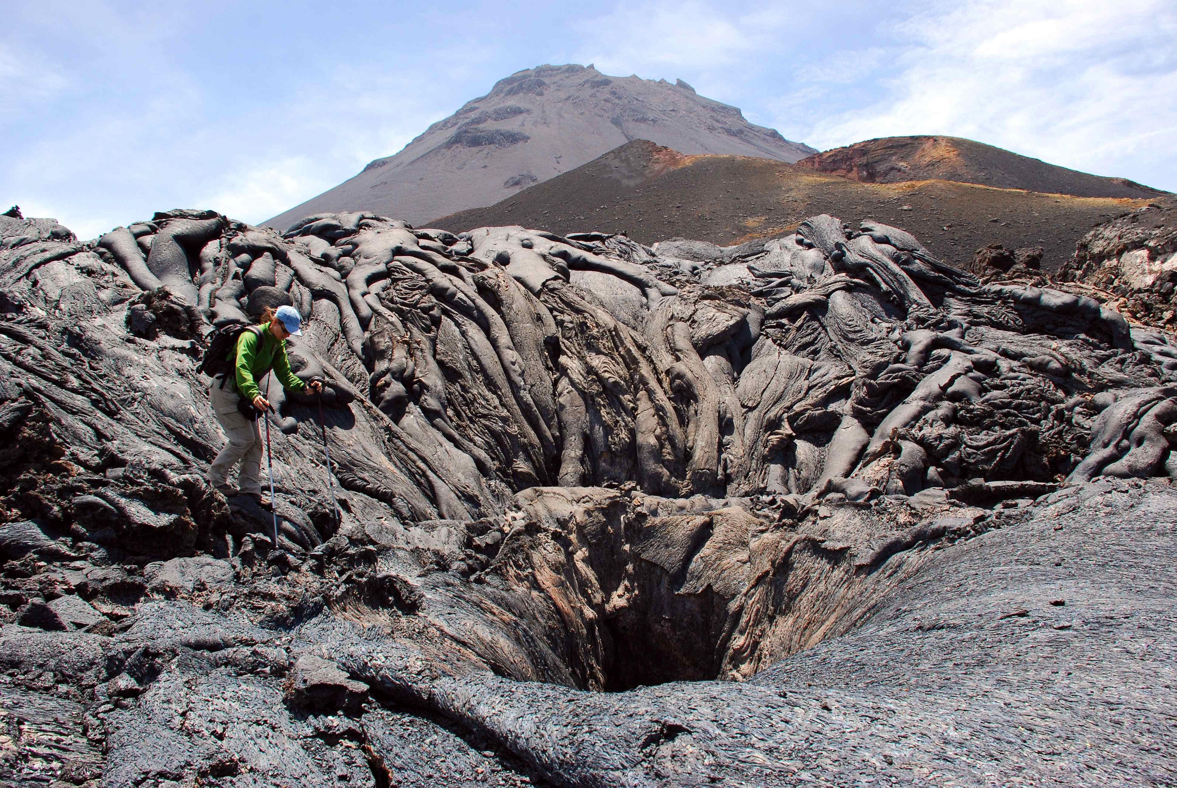 Vista del volcà de Fogo, a Lanzarote. /DIEGO CASAS
