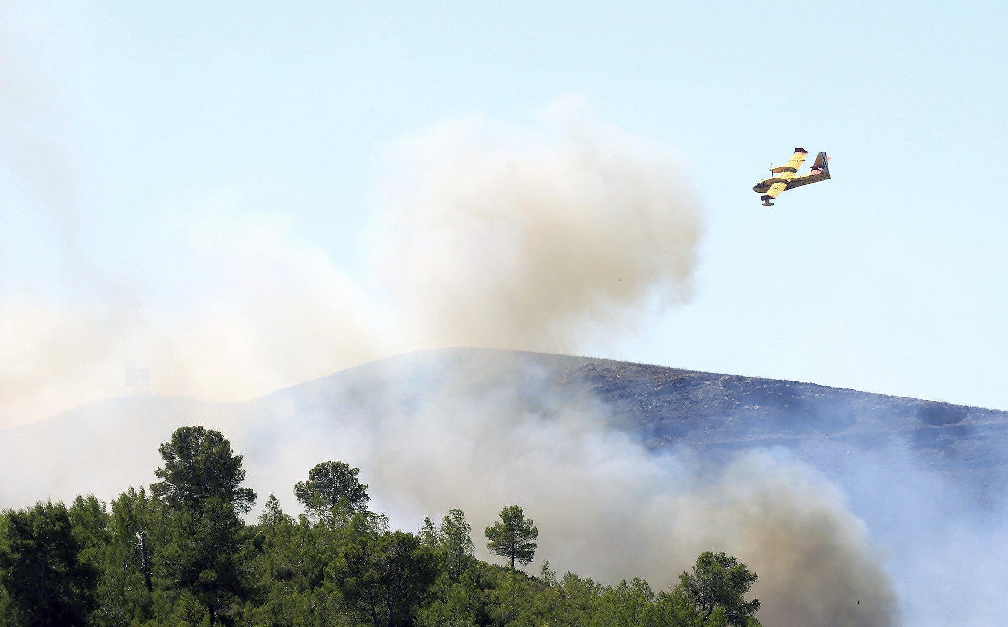 Incendi forestal a Gàtova, València, que ha cremat més de 267 hectàrees. /DOMENECH CASTELLÓ