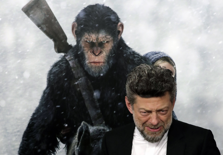 L'actor britànic Andy Serkis a la seva arribada a l'estrena de 'El Planeta dels Simis: La Guerra ' al Teatre SVA de Nova York (EUA). /JASON SZENES