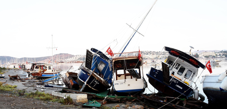 Un terratrèmol de 6,4 graus deixa dos morts a l'illa de Kos, Turquia. /YASAR ANTER
