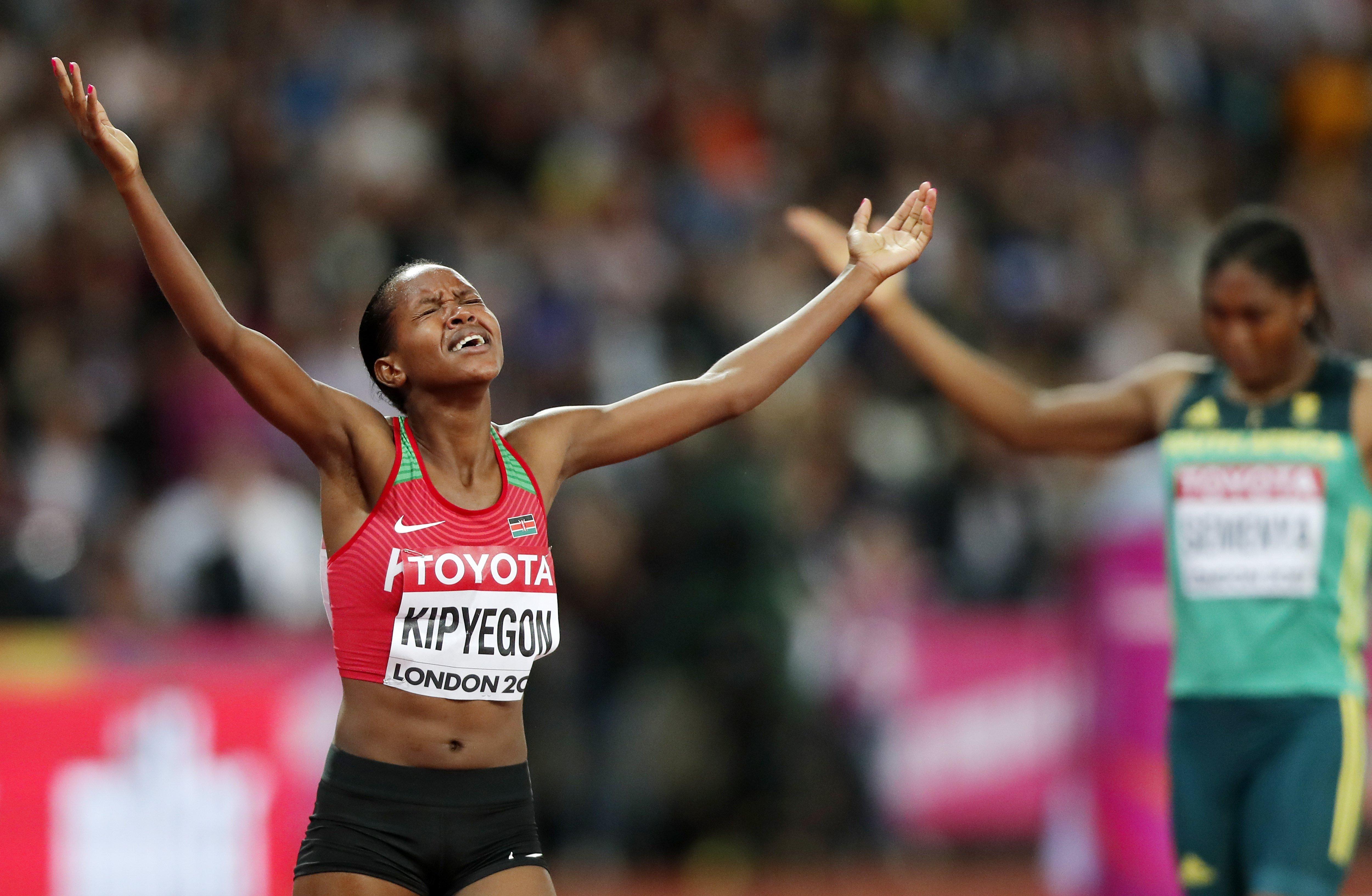 Kipyegon, campiona en el Mundial d'Atletisme. /IAN LANGSDON