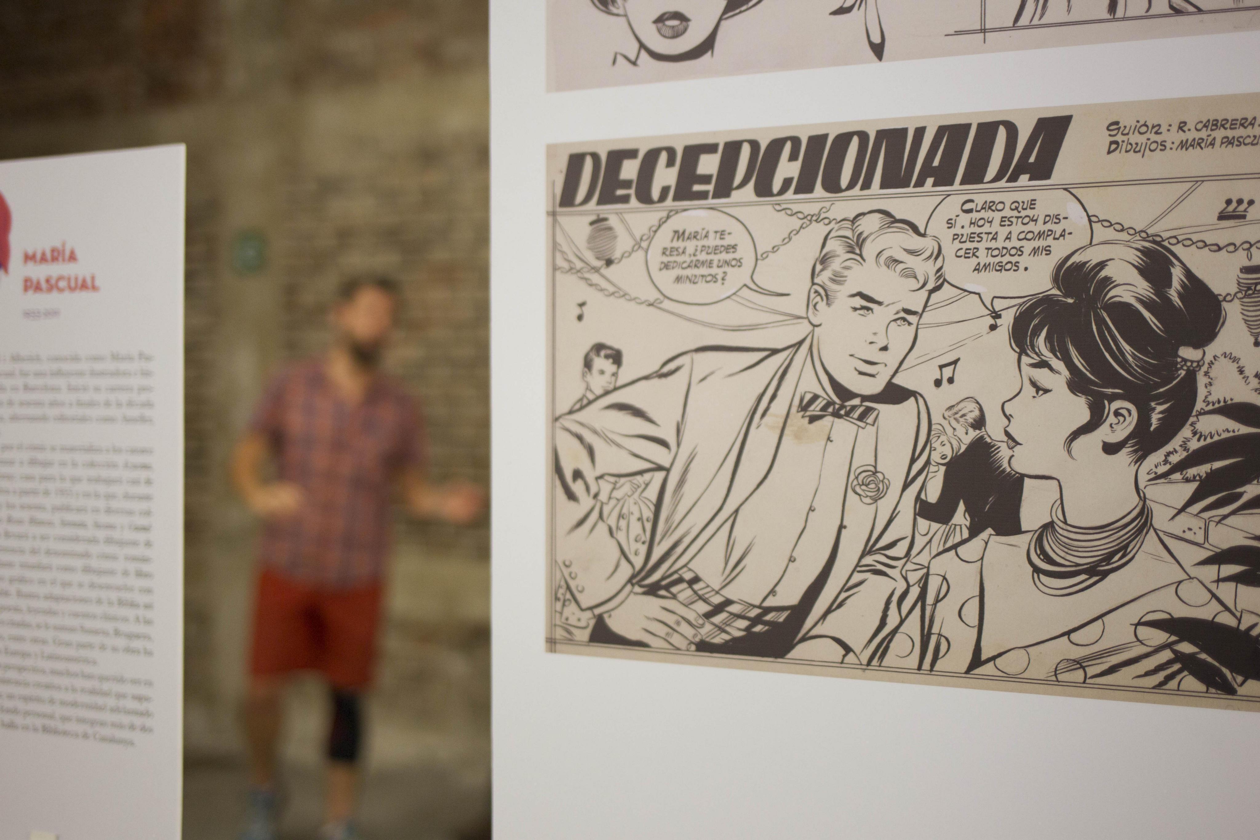 """L'exposició """"Presentes: Autoras de tebeo de ayer y hoy"""", en el Centre Cultural d'Espanya de Guatemala, una compilació del treball de 50 autores espanyoles des del 1920 fins avui. /DAFNE PÉREZ"""