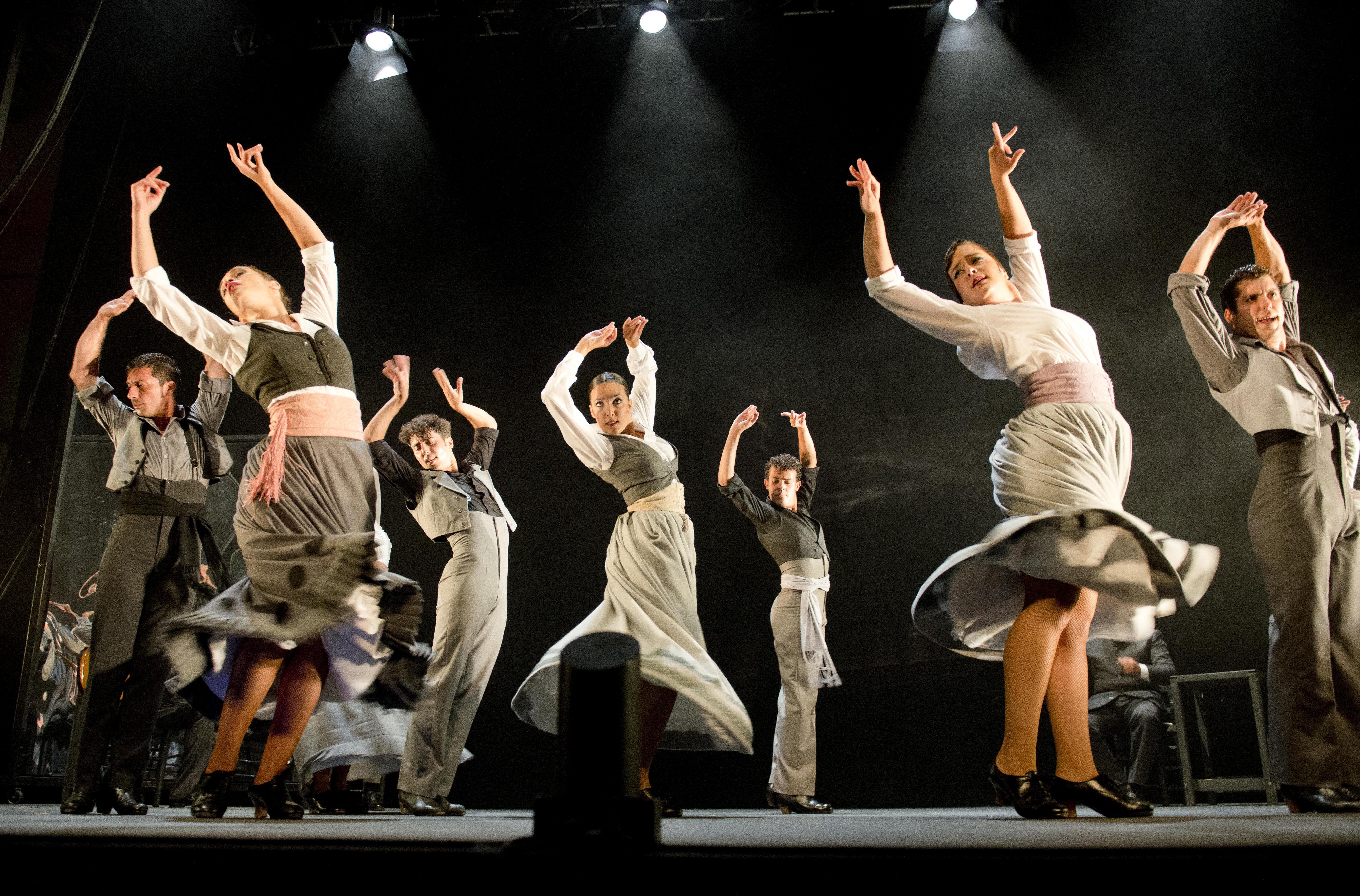 """El Ballet Flamenc d'Andalusia presenta el seu espectacle """"Aquel Silverio"""", durant la seva actuació en la gala de clausura del Festival Internacional de Cante de las Minas. /J. ALBALADEJO"""