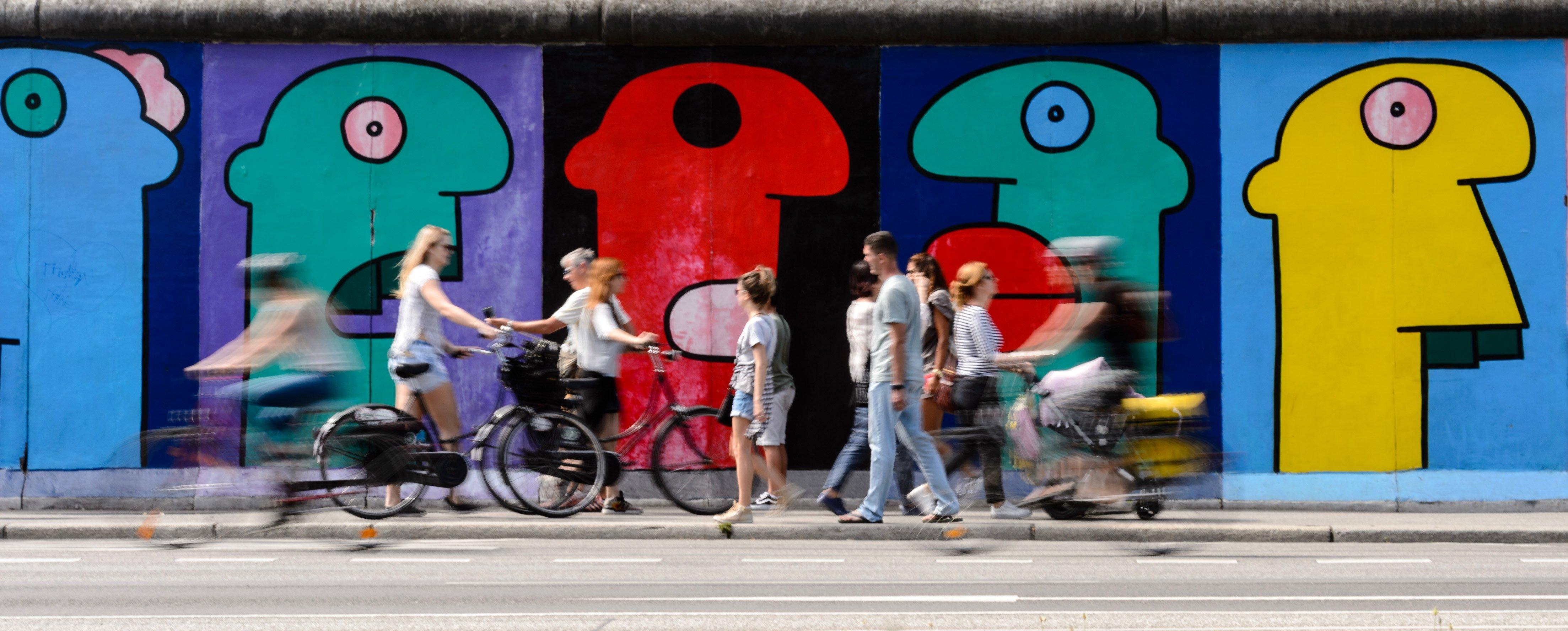 56 aniversari de la construcció del mur de Berlín. /JENS SCHLUETER