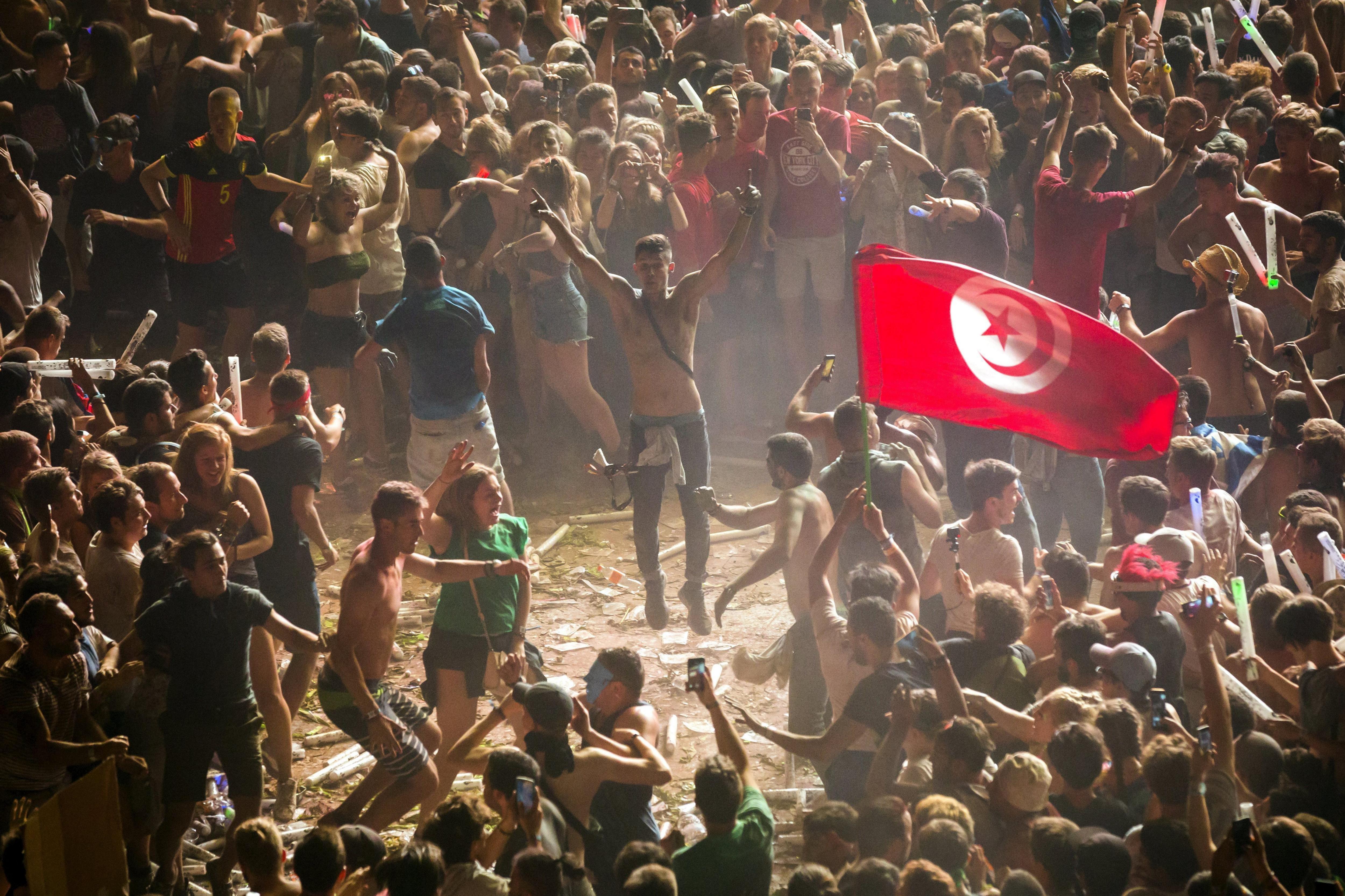 Imatge de la 25 edició del Festival Sziget a Shipyard Island, al nord de Budapest (Hongria). /BALAZS MOHAI