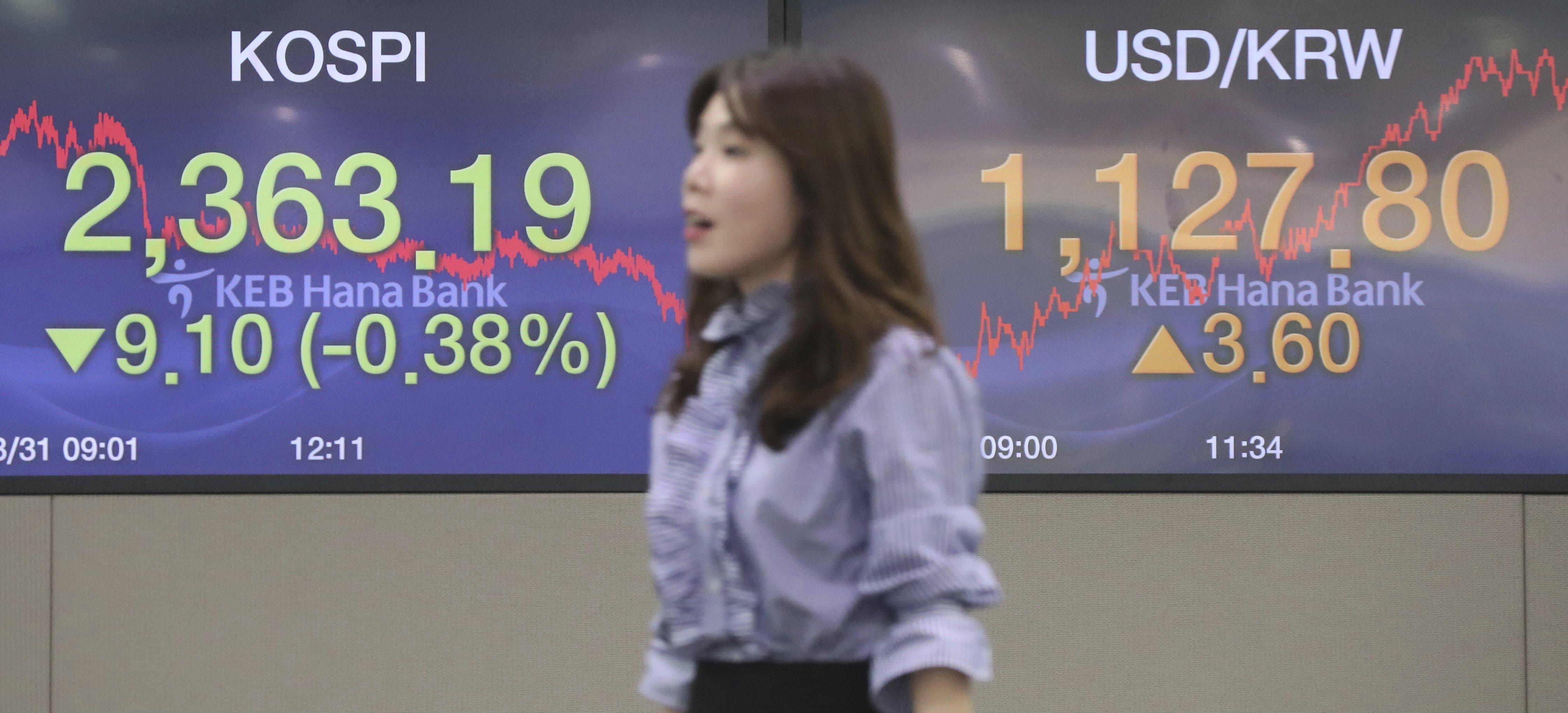 La borsa de Seül tanca amb una reculada del 0,38% (2.363,19 punts). /YONHAP
