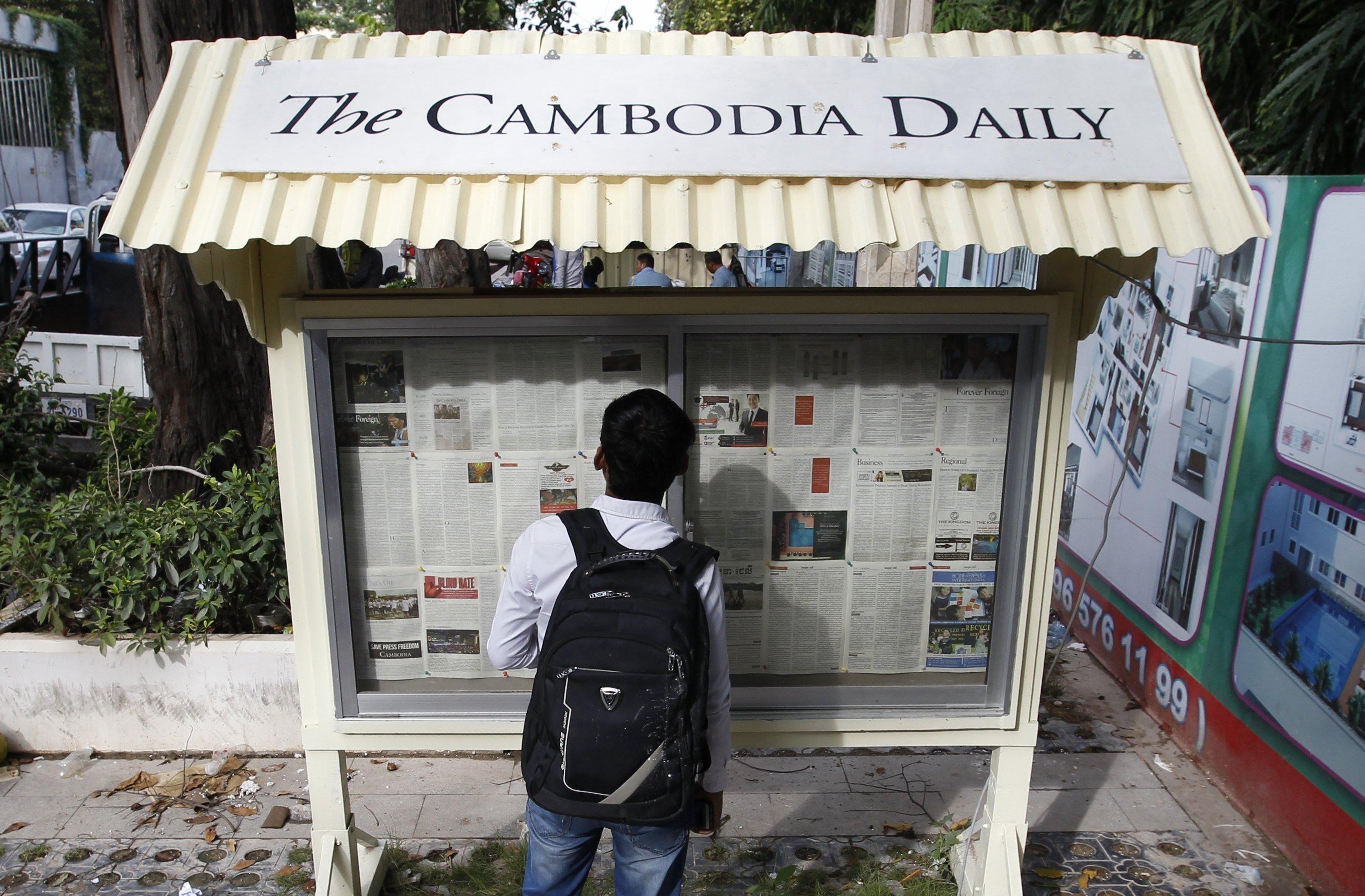 """El diari """"The Cambodia Daily"""", crític amb Hun Sen, tanca per un suposat deute d'impostos. /MAK REMISSA"""