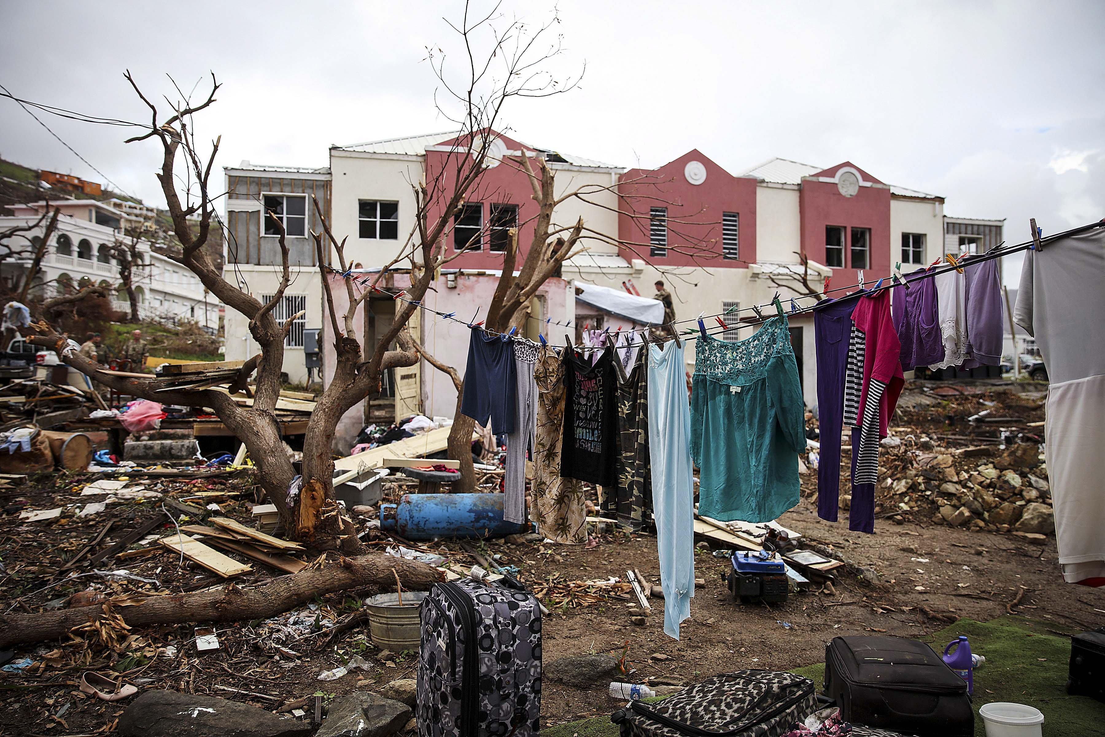 Greus danys a les Illes Verges després del pas de l'huracà Irma. LPHOT JOEL ROUSE/ FOTOGRAFÍA C