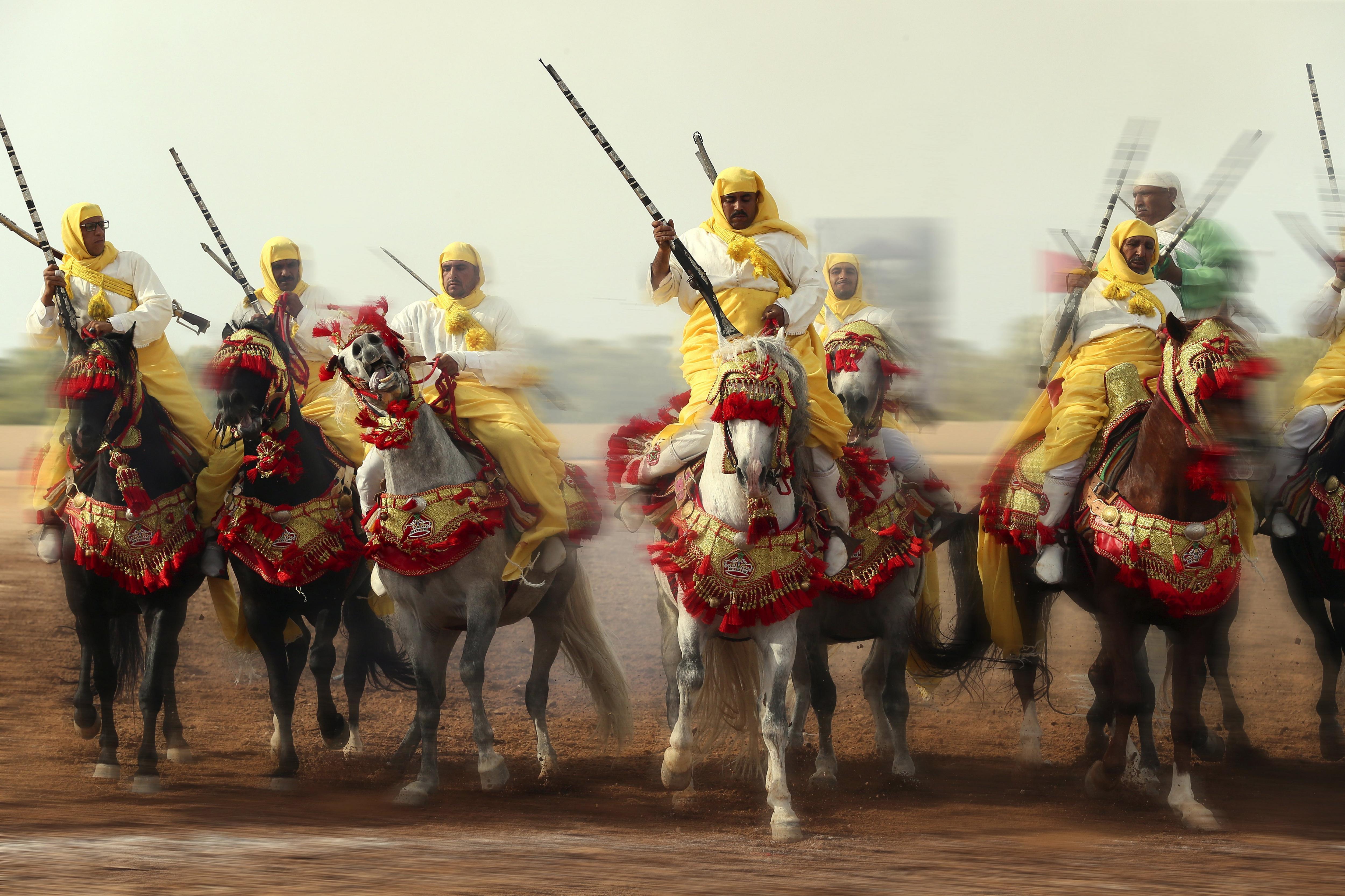 Festival de cavalls d'Al-Jadidah al Marroc. /NABIL MOUNZER