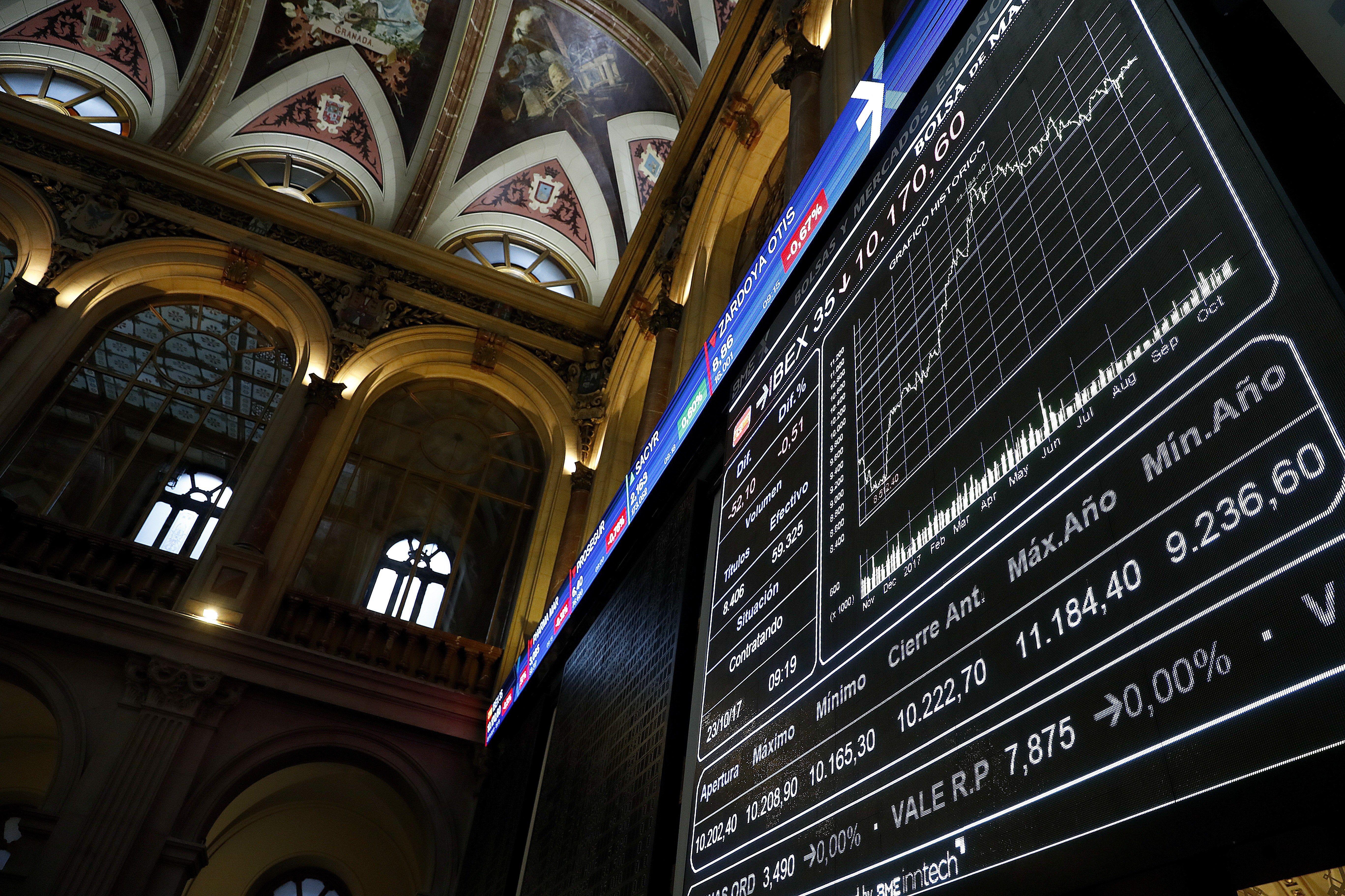 L'IBEX 35 cau un 0,54% pendent de Catalunya. /CHEMA MOYA