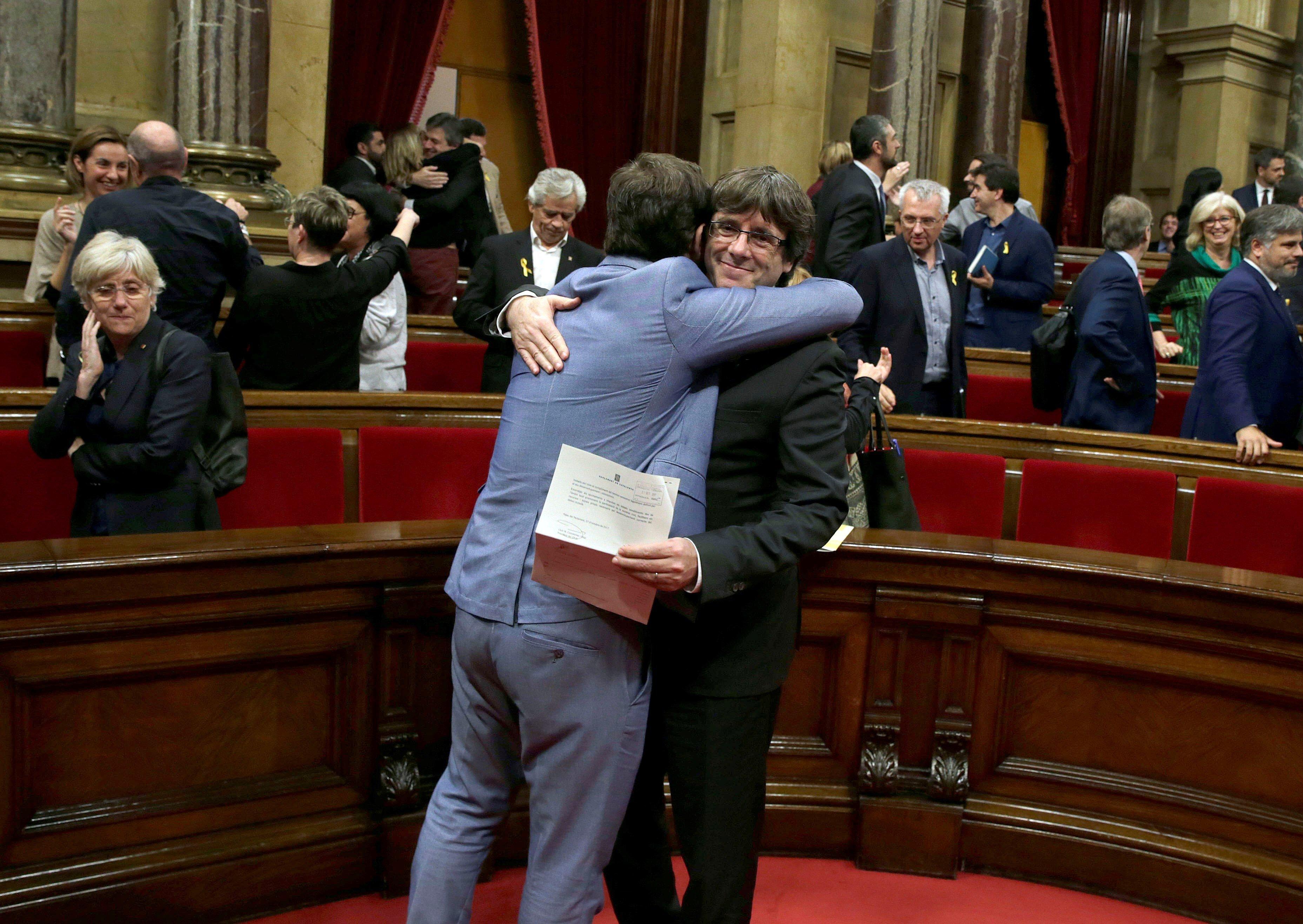 Carles Puigdemont després de la votació al Parlament. /EFE