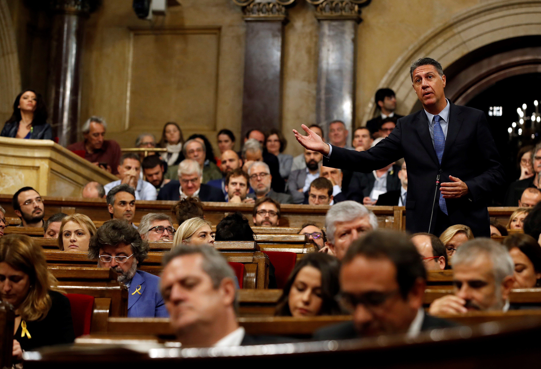 El president del grup parlamentari del PPC, Xavier García Albiol, intervé en la sessió del Parlament. /EFE