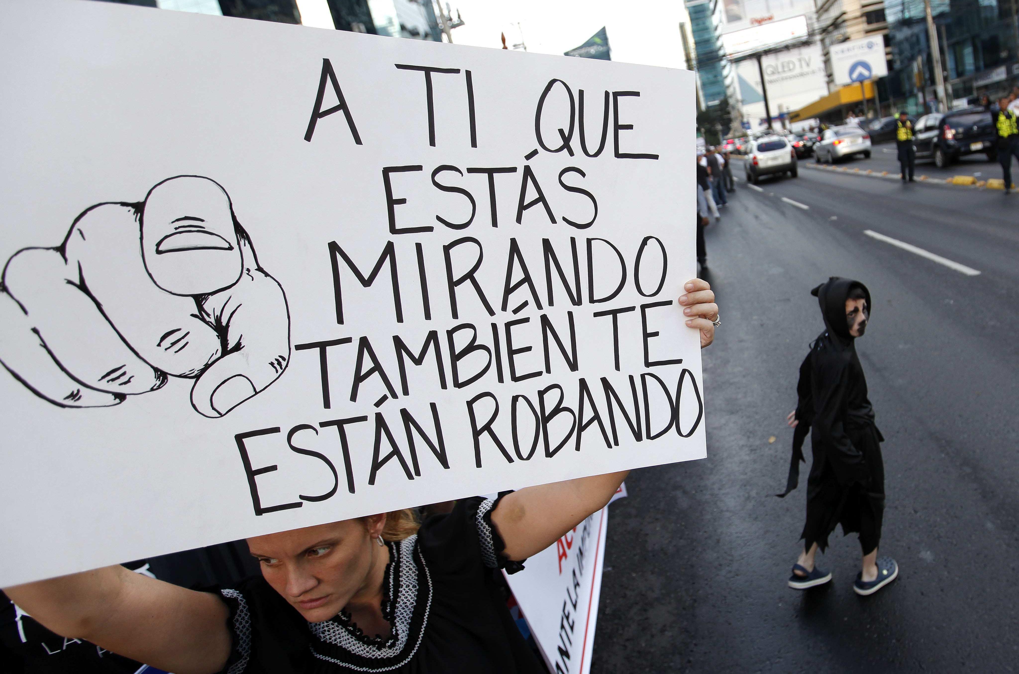 Manifestació contra la corrupció a Panamà. /ALEJANDRO BOLÍVAR