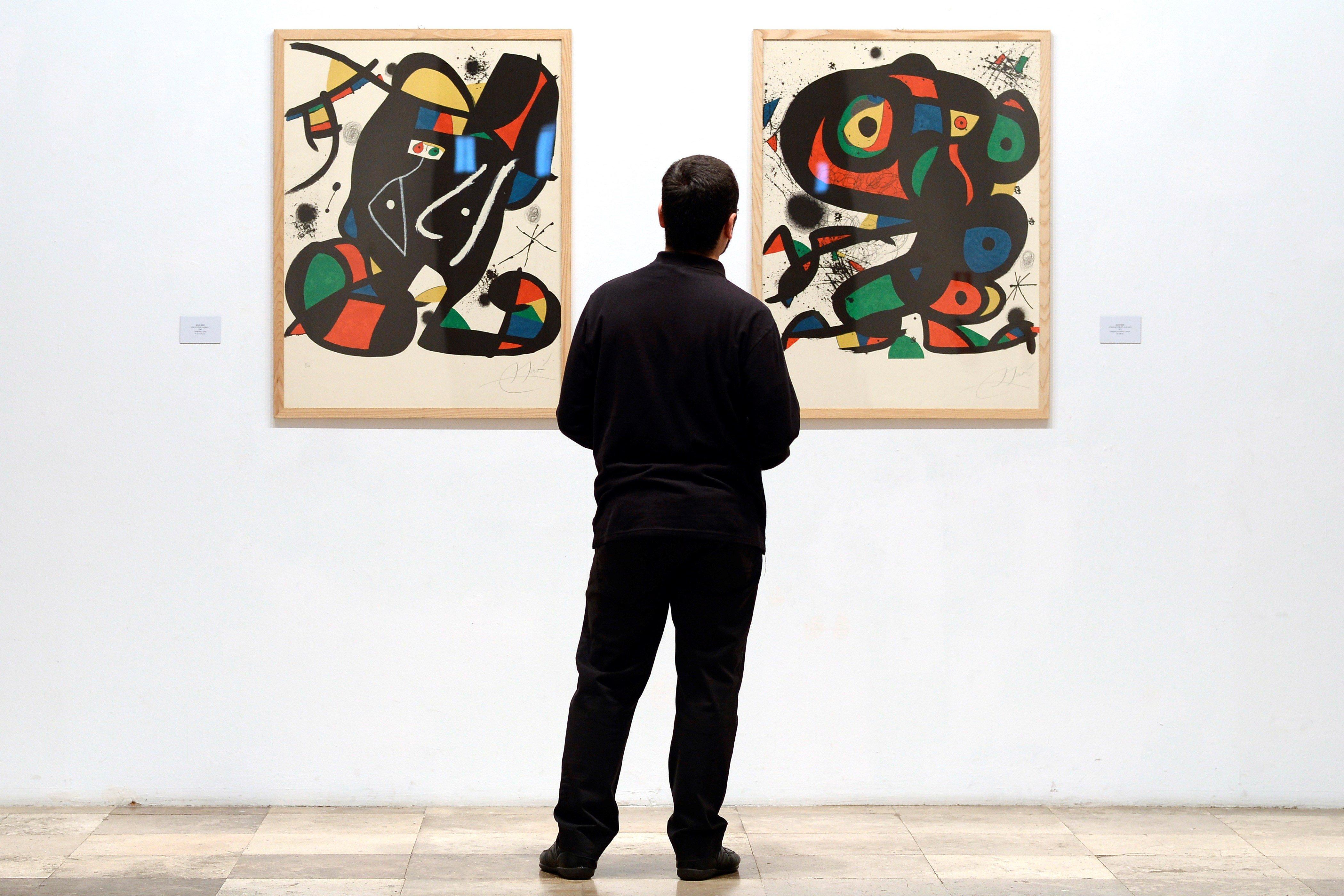 """Més de mig centenar d'obres despleguen a Valladolid el """"jardí de les meravelles"""" de Joan Miró. /NACHO GALLEGO"""