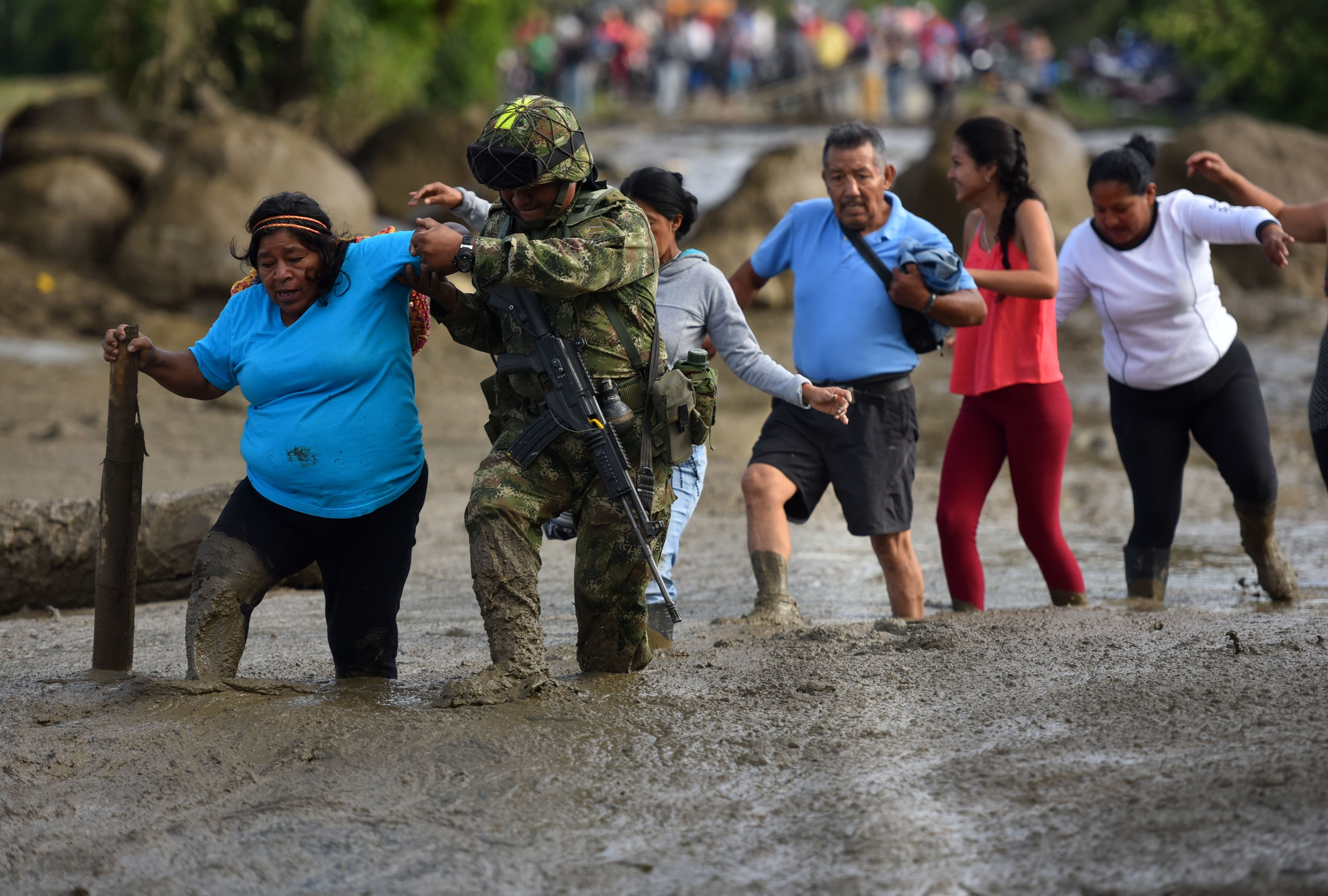 Confirmen quatre morts i 18 desapareguts per una riuada al sud-oest de Colòmbia. /ERNESTO GUZMÁN JR