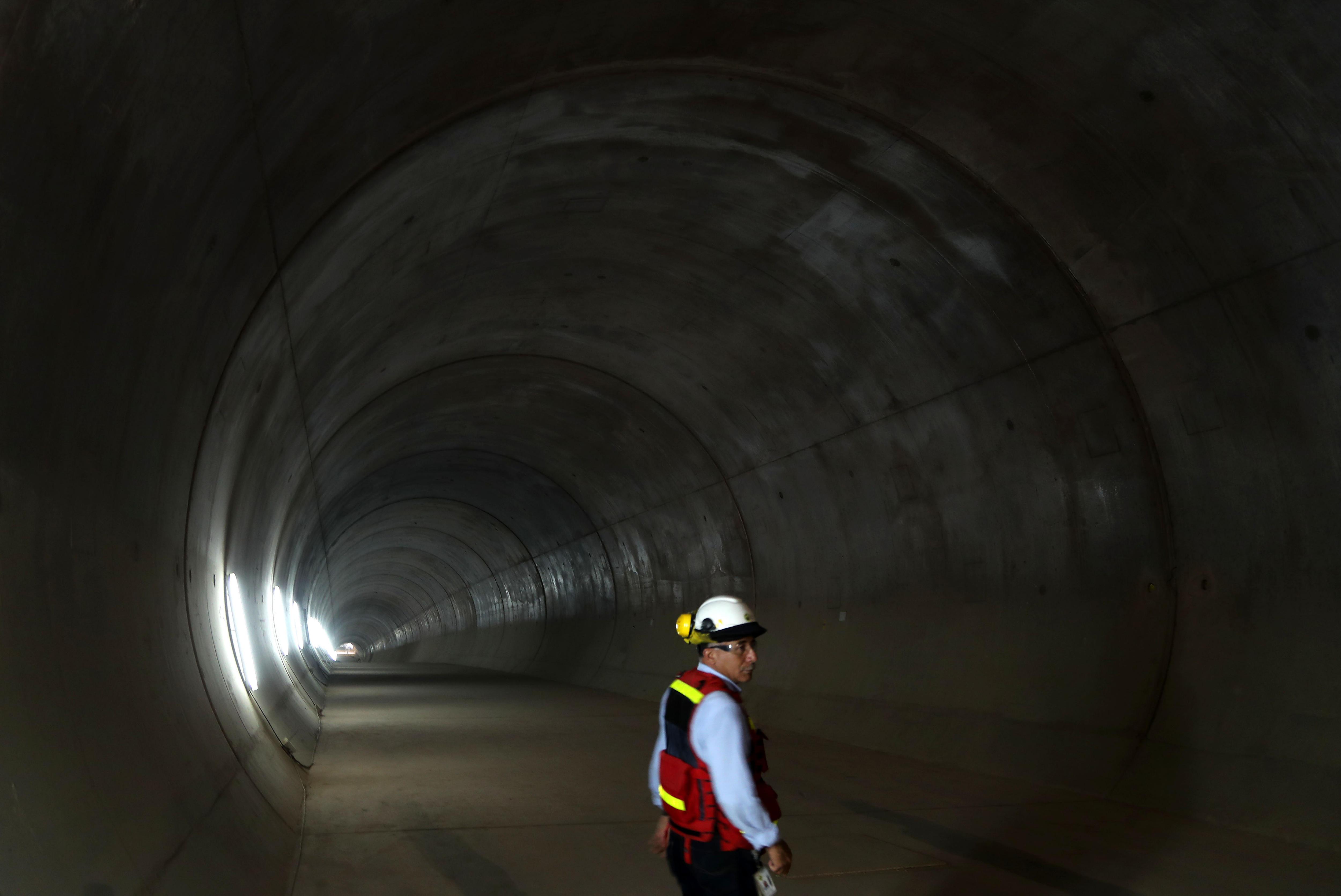 Vista general d'un dels túnels en construcció de la línia 2 del metre de Lima (Perú). /ERNESTO ARIAS