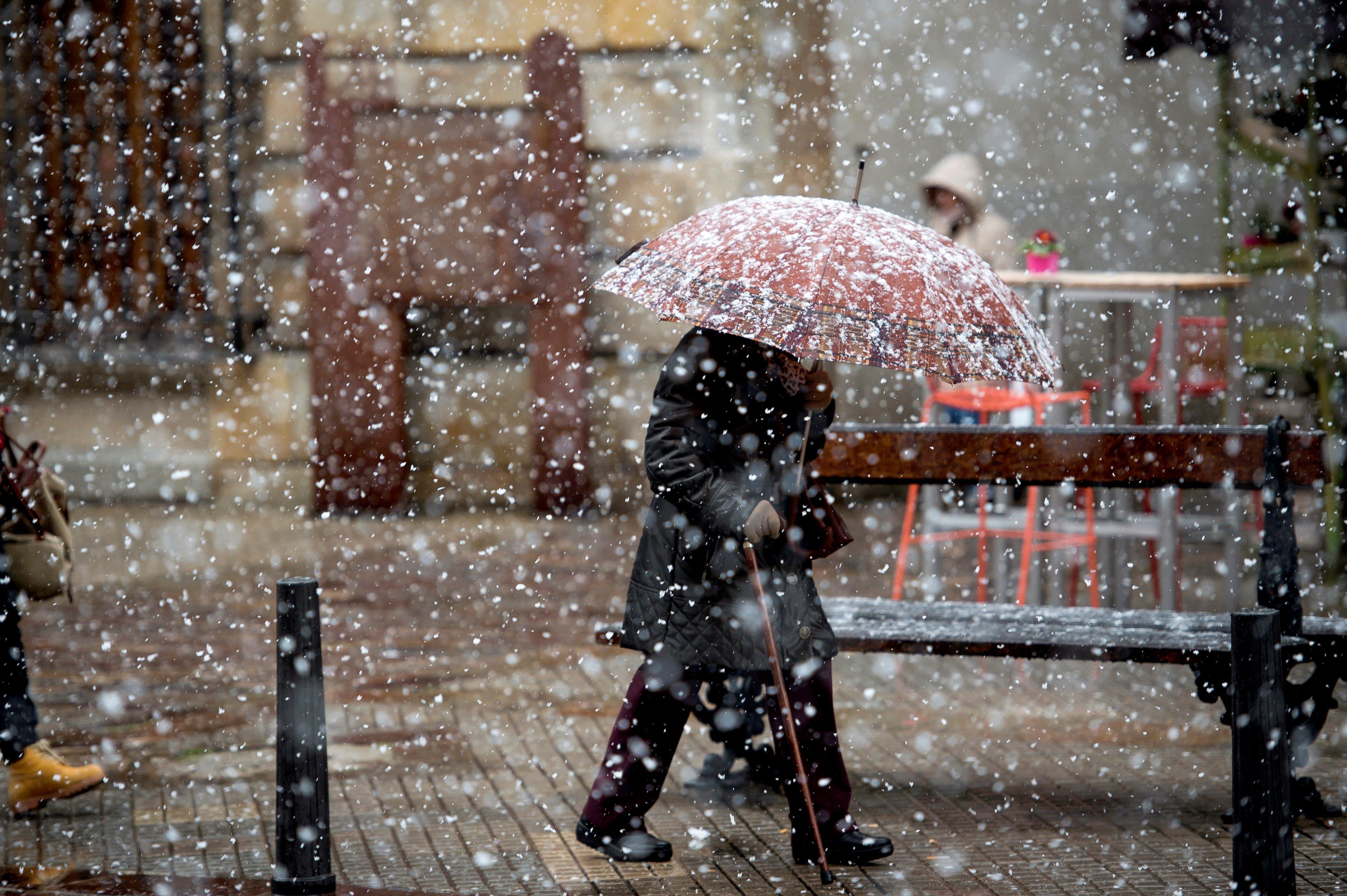 Temporal de neu a Cantàbria. /PEDRO PUENTE HOYOS