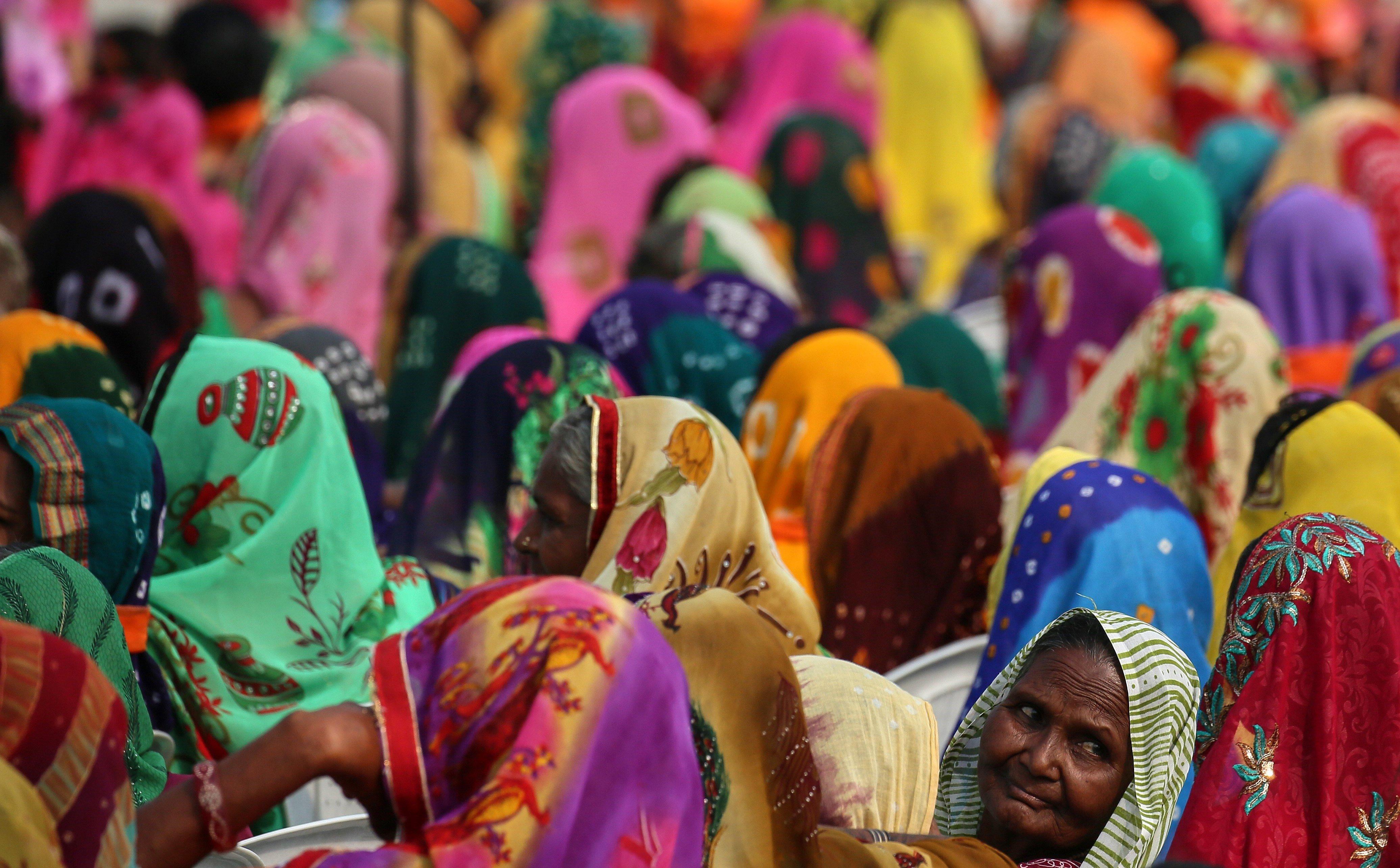 Campanya del partit Bharatiya Janta per a les eleccions de l'Assemblea de l'estat de Gujarat, Índia. /DIVYAKANT SOLANKI