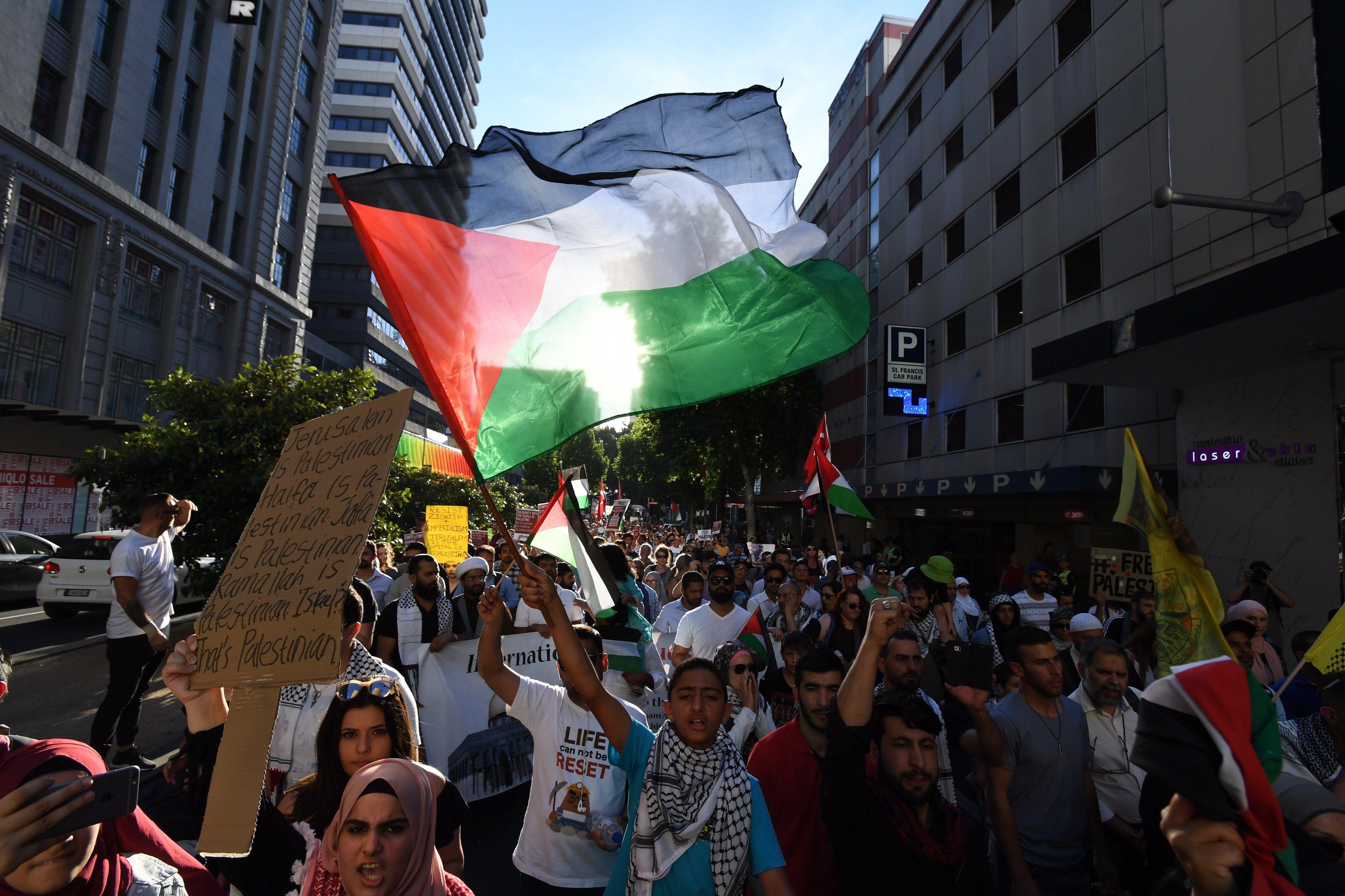 Protesta en contra de la decisió de Trump de reconèixer Jerusalem com a capital d'Israel. /JAMES ROSS