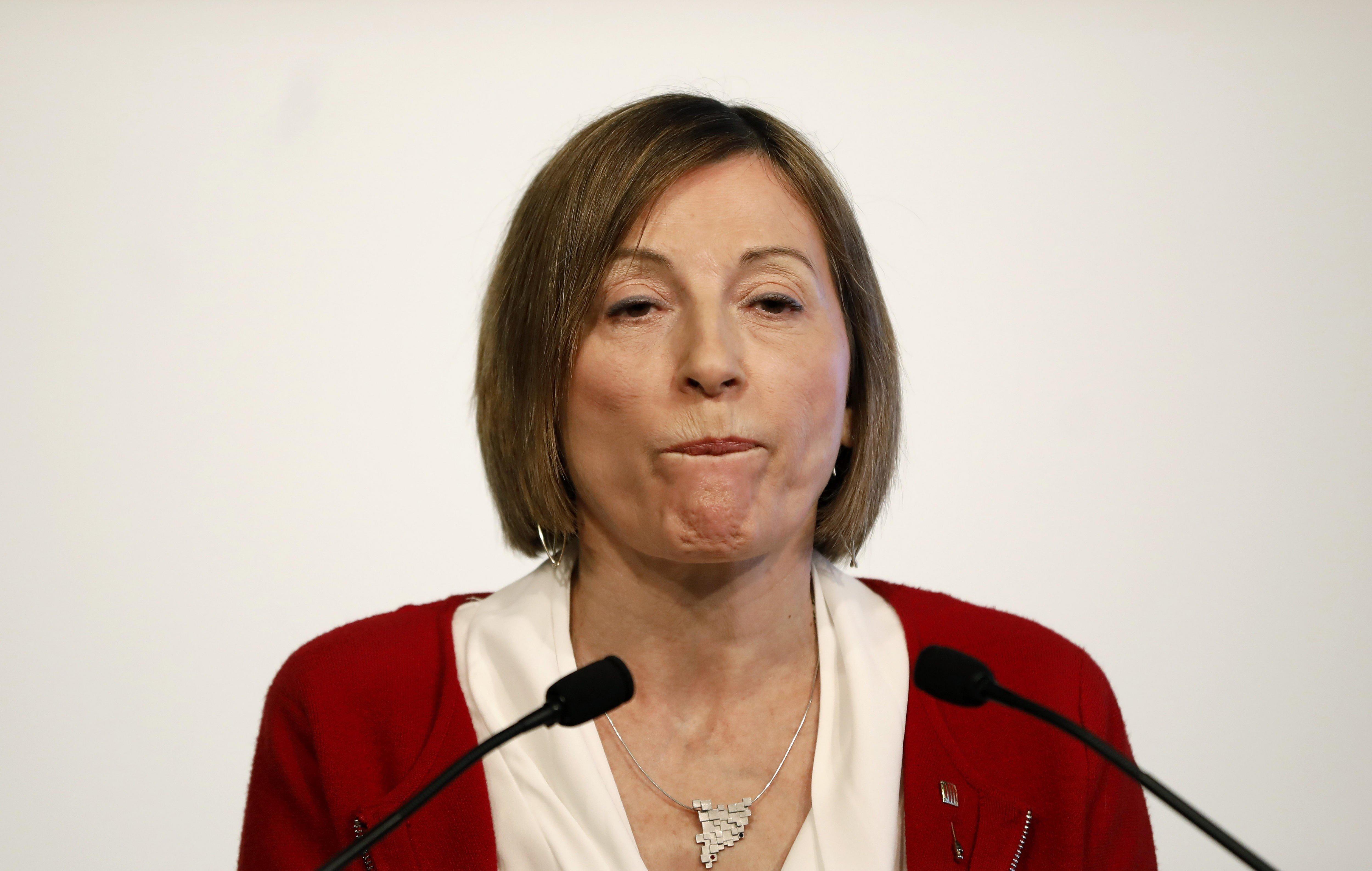 Carme Forcadell renuncia a repetir com a presidenta del Parlament. /ANDREU DALMAU