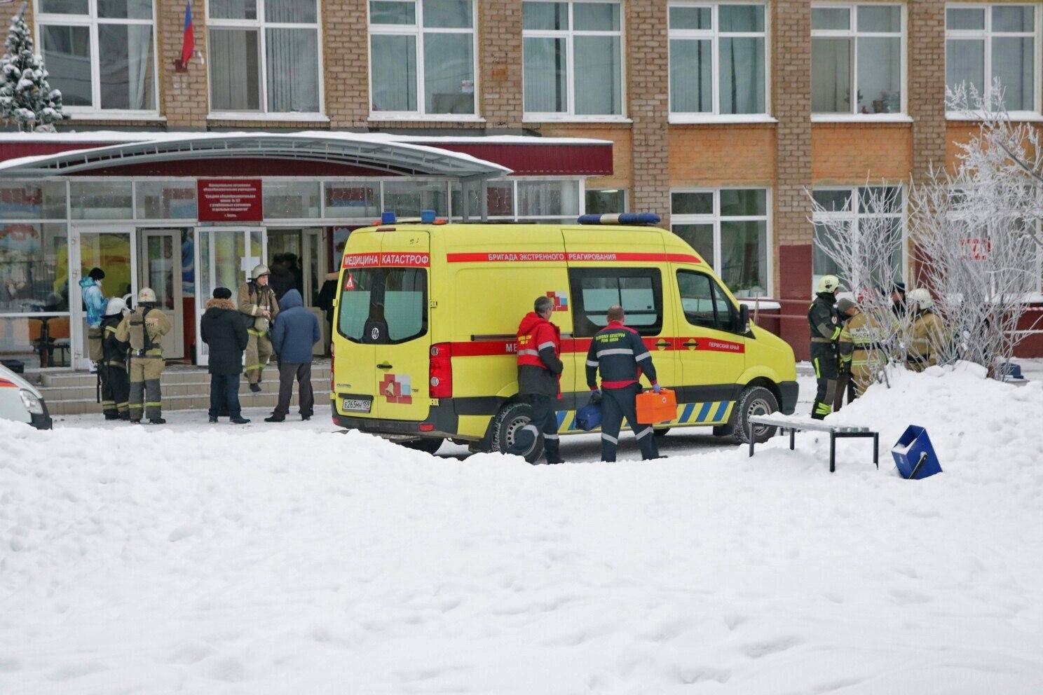 Vuit menors d'edat i una professora, ferits per arma blanca en un centre educatiu de Rússia. Dos homes emmascarats han estat detinguts per la policia. /EFE