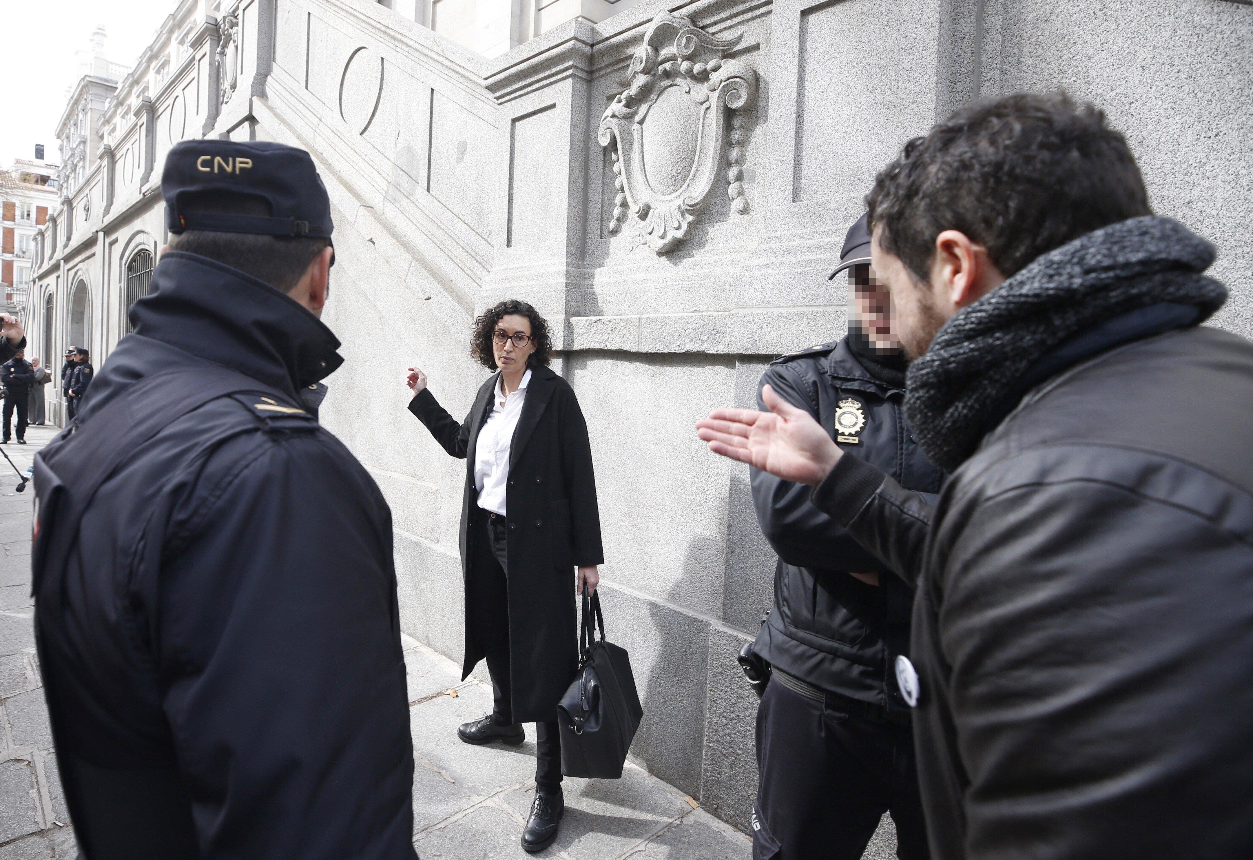 Pablo Llarena deixa Marta Rovira en llibertat sota una fiança de 60.000 euros. /JAVIER LIZÓN